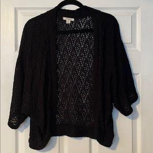 EUC DressBarn Women's Black Crochet Sweater 22/24